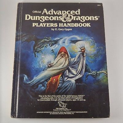 1980 6th print AD&D Advanced Dungeons and Dragons Player's Handbook TSR 2010