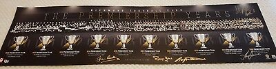 Richmond Premiership Years History Print Signed By Hart Dean Bourke Roach Jewell