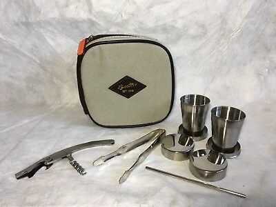 Buxton® Travel Stainless Steel Barware Set Camping Accessories Pop Up Shot Cups