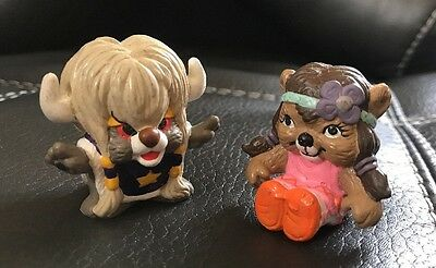 Vintage 1985 Hanna Barbera Applause Paw Paws PVC Figure Lot 2 Indian Bear Toy