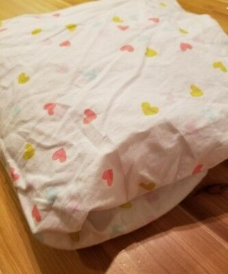 Circo Hearts Fitted Crib Sheet toddler bed sheet baby girl nursery #1069