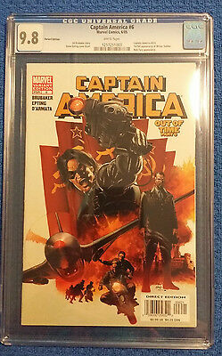 Captain America #6 Cgc 9.8 1St Appearance Winter Soldier Variant Cover