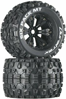 Duratrax Six Pack MT 3.8 Mounted 1/2 Offset Tyre (Set of 2), Black DTXC3584 Dura