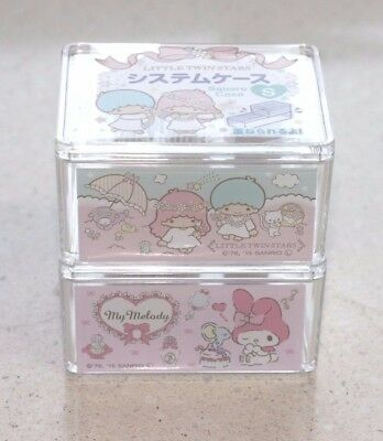 Sanrio Little Twin Stars & My Melody Square Case set Pile up Kawaii Japan F/S