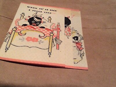 Vintage Black Get Well Card