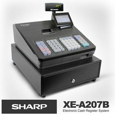 Sharp [Xea207B] Cash Register/raised Keybd/black Near New