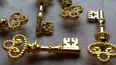 100 wedding new antique old look skeleton keys gold tone vintage key to my heart