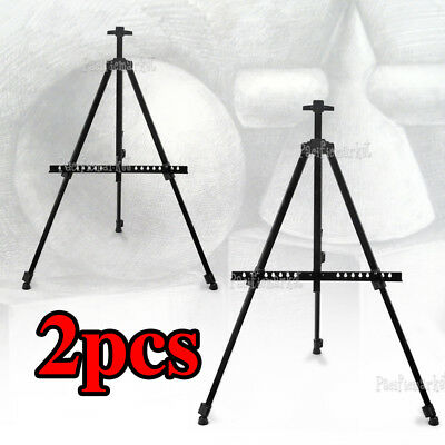 2x 1.7m Adjustable Art Artist Tripod Easel Painting Display Stand for Exhibition