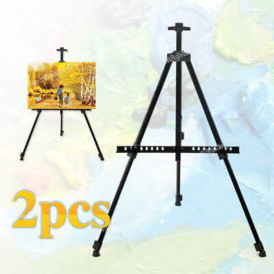 2x Folding Tripod Display Easel Stand Drawing Board Art Sketch Painting Holder