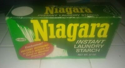 Soap VINTAGE NIAGRA INSTANT LAUNDRY STARCH -12 OZ BOX unopened