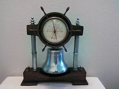 Wittnauer Brass Barometer with Silver Bell Decorative Piece