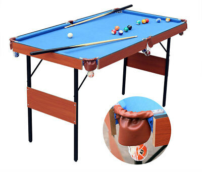 "55"" Folding full Set Pool Snooker Table Billiard Game Table For Kids Gift"