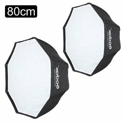 2X Godox 80cm Octagon Umbrella Softbox for Speedlite Studio Flash Speedlight