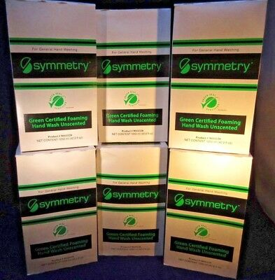 6 Symmetry Green Certified Foaming Hand wash refills 1250 ml/42.2 ounces each X6