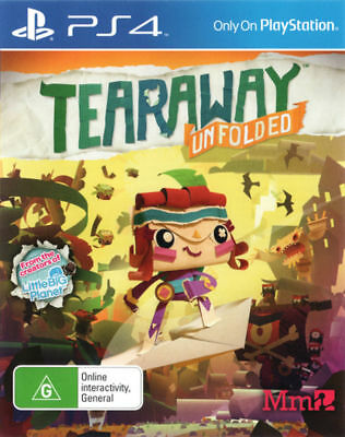 PS4 Tearaway Unfolded Sony Playstation 4 Game - Brand New & Sealed