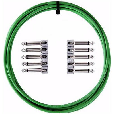 Lava TightRope Solder-Free Pedal Kit Right-Angle Plugs 10ft Guitar Cable Green