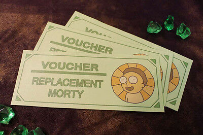 Rick And Morty Replacement Morty Voucher Certificates