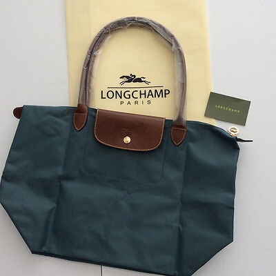 Authentic  Longchamp - Le Pliage  tote bag ( Duck Blue Size L )