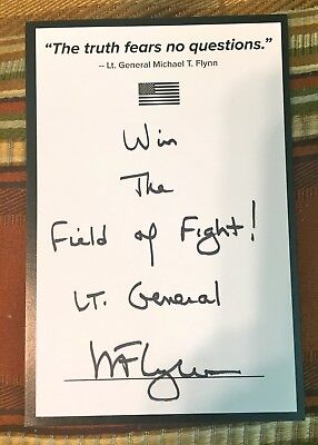 Signed Trump National Security Advisor Lt. Michael Flynn book plate