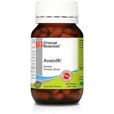 Oriental Botanicals Anxiolift 60 Tablets  Relieve Anxiety Stress Tension