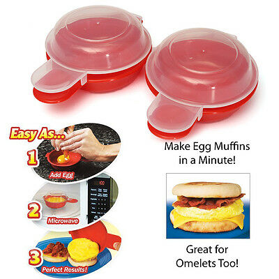 1set Home Easy Microwave Egg Cooker Omelet Hamburg Maker Cookware Cheese Bacon