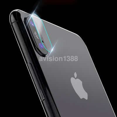 Back Transparent Camera Lens Tempered Glass Protective Film Cover For iPhone X