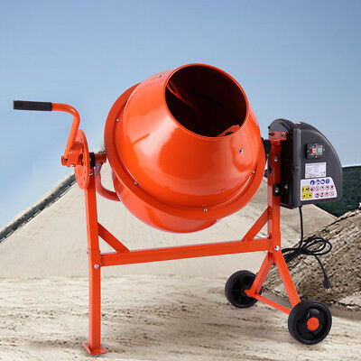 2-1/5cuft Cement Mixer Portable Concrete Mixing Motar Mixer Machine Electric
