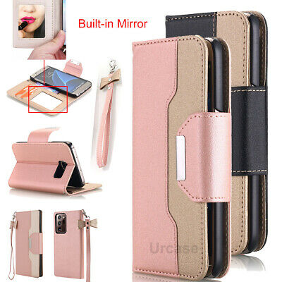 Rose Gold Case for Samsung Galaxy S7 /S7 edge Phone Cover - Flip Wallet + Mirror