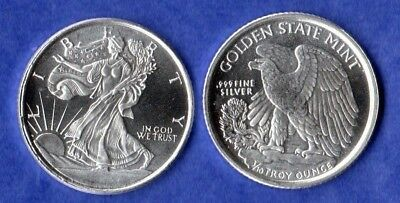 "1/10 oz. .999 Fine Solid Silver Art-Round, Uncirculated: "" WALKING LIBERTY """