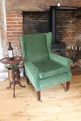 Antique Edwardian re-upholstered armchair,easy chair,comfy chair,fireside chair