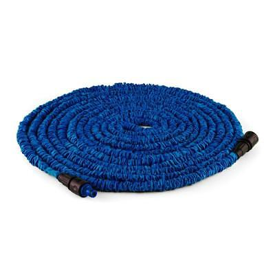 30 M Blue Flexible  Extendable Garden Hose Extension And Adaptor Blue Watering