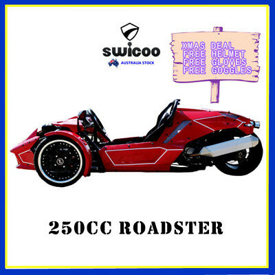 NEW 250cc ROADSTER TRIKE SPORT RACING QUAD BIKE ATV 3 WHEELER SLIDER