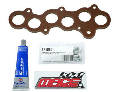 Mace 25Mm Perf. Manifold Insulator Kit Holden One Tonner Vy Ecotec L36 3.8L V6