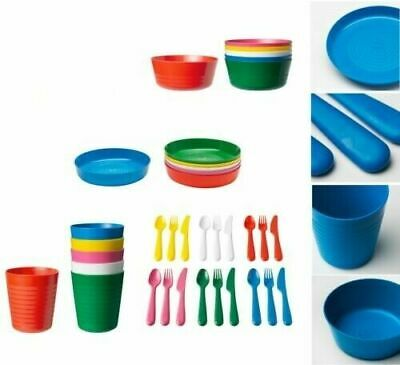 IKEA KALAS Kids Baby Childrens Cups Plates Bowls Plastic Cutlery Sets,3 Years +