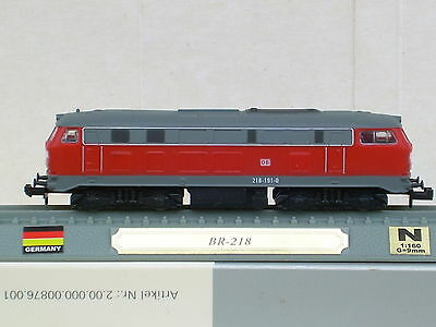 Br 218 German Locomotive-Excellent Condition-Blister Pack-N Guage