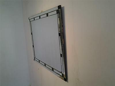 Art Deco style bevelled glass large mirror black clear