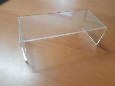 Used acrylic perspex riser display retail shop fittings