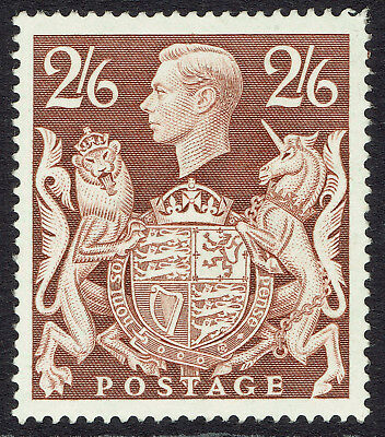 GB KGVI SG476 - 2s6d BROWN - 1939 HIGH VALUE - MNH UNMOUNTED MINT - Sc #249