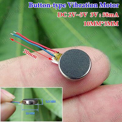 DC 3V Button-type Cell Phone Mobile Coin Flat Vibrating Vibration Micro DC Motor