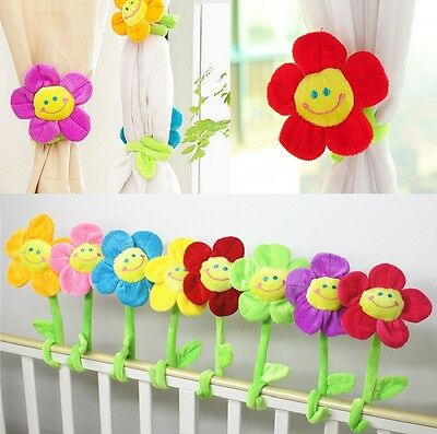 Curtain Clip Sunflower Tie Back Flexible Clasps Tieback Holdback Holder Buckle #
