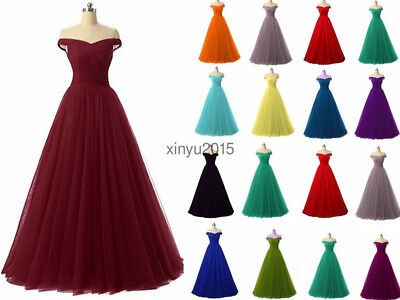 STOCK Long Chiffon Bridesmaid Prom Dress Wedding Evening Formal Party Ball Gown
