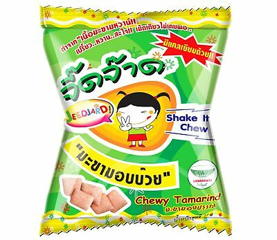 12g.Chewy Tamarind with plum powder JEEDJAD sweet and sour candy dried fruit