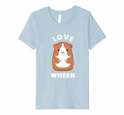Kids Funny Guinea Pigs TShirt Fun Saying LOVE WHEEK 4 Baby Blue