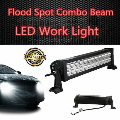 "16"" 72W Flood Spot Combo Beam LED Work Light Bar Offroad 4WD SUV Driving Lamp AU"