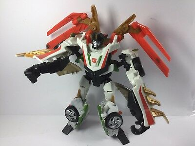 TRANSFORMERS WheelJack Prime Beast Hunters Deluxe Class Figure #4 2012 LOOSE