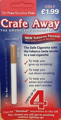 Crafe Away Stop Smoking Cigarette with Tobacco Flavour - Lasts Upto 4 Weeks