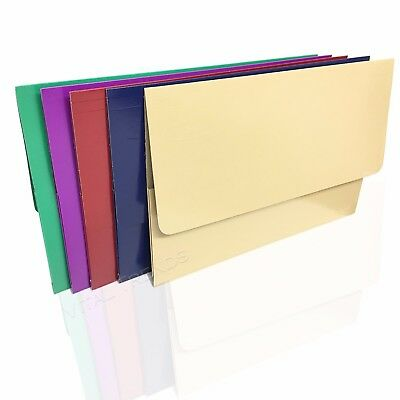 A4 Document Wallet Foolscap Cardboard Envelope Filing Folder Wallets Assorted