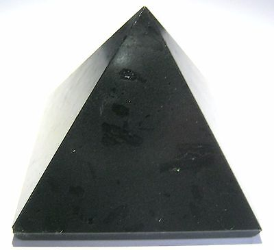 Powerful Black tourmaline feng shui 131 grams pyramid crystal healing gift bagua