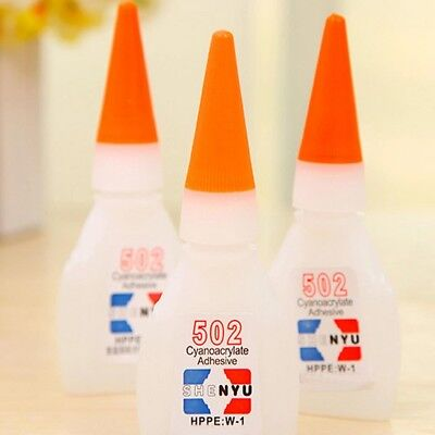 5x 502 Super Strong Glue Rapid Fast Cure Cyanoacrylate Adhesive Shoes Sport Shoe