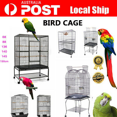 New 68cm -150cm Bird Cage Parrot Aviary Pet Carrier Portable Canary Budgie Perch
